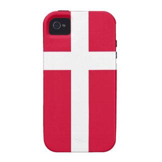 caja de la bandera de país de Dinamarca iPhone 4 Carcasas