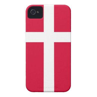 caja de la bandera de país de Dinamarca Case-Mate iPhone 4 Protectores