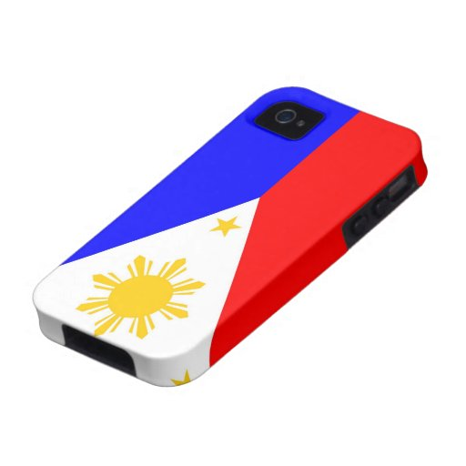 caja de la bandera de país de Filipinas iPhone 4/4S Carcasa