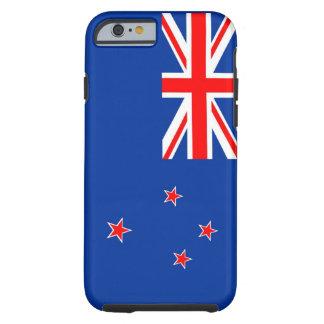 caja de la bandera de país de Nueva Zelanda Funda De iPhone 6 Tough