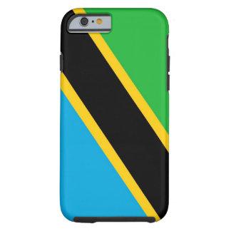 caja de la bandera de país de Tanzania Funda De iPhone 6 Tough