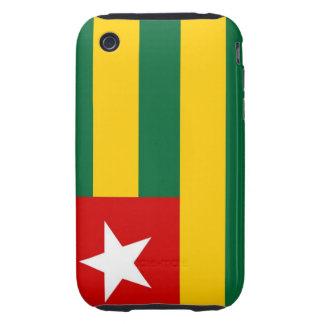 caja de la bandera de país de Togo iPhone 3 Tough Cárcasas