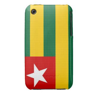 caja de la bandera de país de Togo Case-Mate iPhone 3 Cobertura