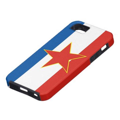 caja de la bandera de país de Yugoslavia Funda Para iPhone SE/5/5s