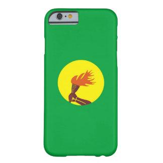 caja de la bandera de país de Zaire Congo Funda De iPhone 6 Barely There
