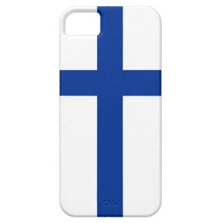 caja de la bandera de país del suomi de Finlandia iPhone 5 Cárcasa
