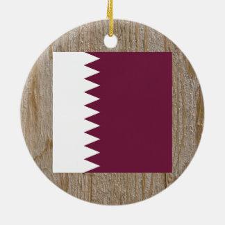 Caja de la bandera de Qatar del diseñador Adorno Redondo De Cerámica