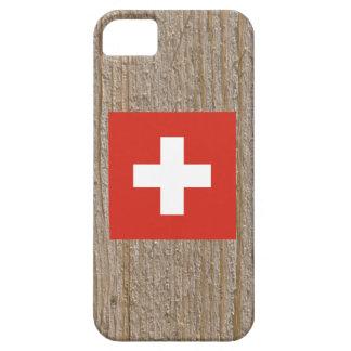 Caja de la bandera de Suiza del diseñador iPhone 5 Funda