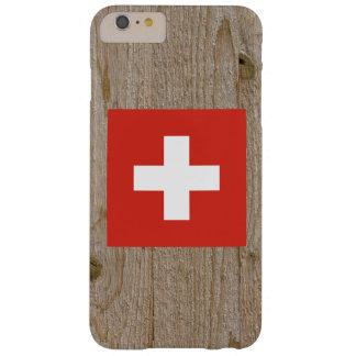 Caja de la bandera de Suiza del diseñador Funda Para iPhone 6 Plus Barely There