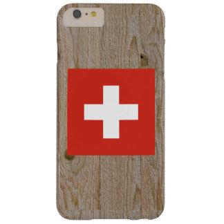 Caja de la bandera de Suiza del diseñador Funda De iPhone 6 Plus Barely There