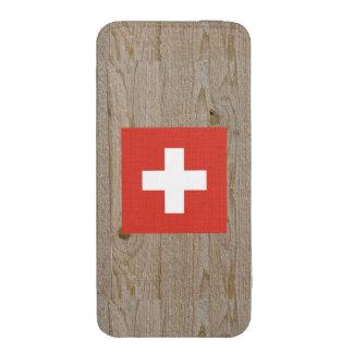 Caja de la bandera de Suiza del diseñador Bolsillo Para iPhone