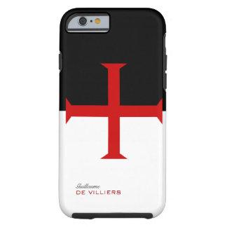 Caja de la bandera de Templar con su nombre Funda De iPhone 6 Tough