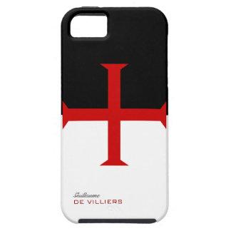 Caja de la bandera de Templar con su nombre iPhone 5 Case-Mate Carcasa
