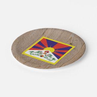 Caja de la bandera de Tíbet del diseñador Plato De Papel De 7 Pulgadas