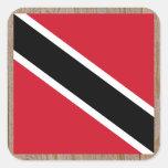 Caja de la bandera de Trinidad and Tobago del Pegatina Cuadrada