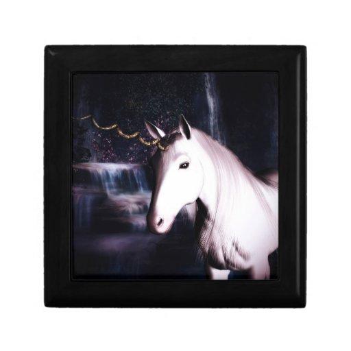 caja de la baratija de la fantasía del unicornio caja de joyas