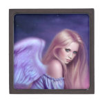 Caja de la baratija del arte del ángel de Seraphin Cajas De Recuerdo De Calidad