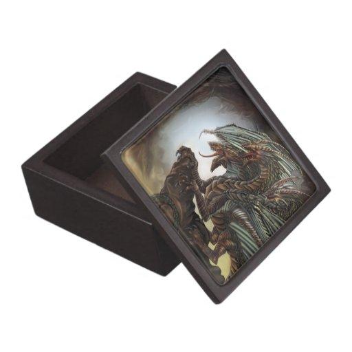 Caja de la baratija del dragón cajas de joyas de calidad