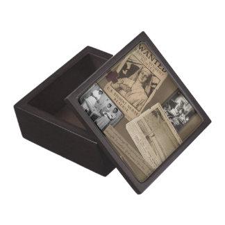 Caja de la baratija del estilo del vintage de la e cajas de joyas de calidad