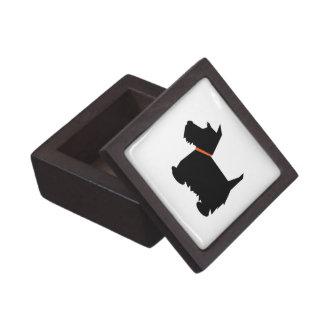 Caja de la baratija del joyero de perro de Terrier Cajas De Regalo De Calidad