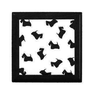Caja de la baratija del joyero de perro de Terrier Caja De Regalo