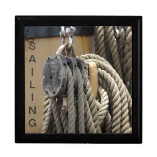 Caja de la baratija del marinero grande caja de recuerdo