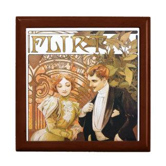 Caja de la baratija del regalo de Nouveau del arte Cajas De Joyas