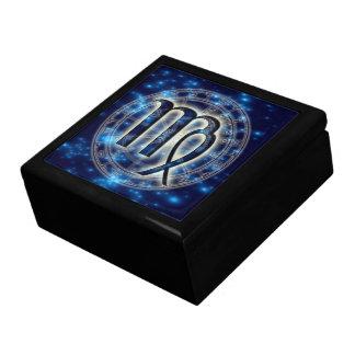 Caja de la baratija del virgo del símbolo de Astro Joyero Cuadrado Grande