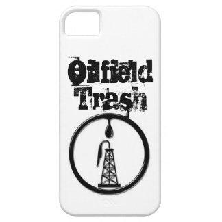 Caja de la basura del campo petrolífero de IPhone iPhone 5 Fundas
