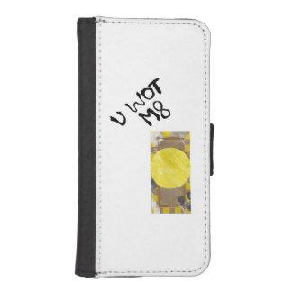 Caja de la cartera de IPhone 5/5S del botón de Funda Billetera Para Teléfono