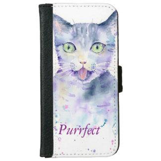 Caja de la cartera de Iphone 6 del gato de la Funda Cartera Para iPhone 6