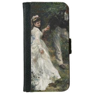 Caja de la cartera de la bella arte de la pintura carcasa de iPhone 6