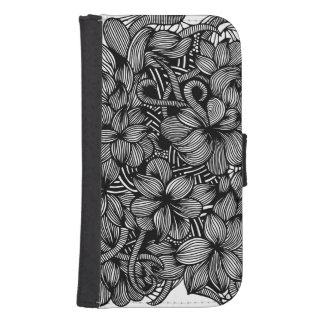 Caja de la cartera de la galaxia S4/iPhone de los Billetera Para Galaxy S4