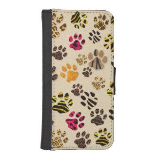 Caja de la cartera de las patas Iphone5/5s del gat Fundas Cartera De iPhone 5