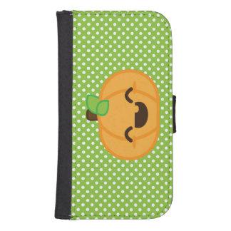Caja de la cartera de Samsung de la calabaza de la Billetera Para Teléfono