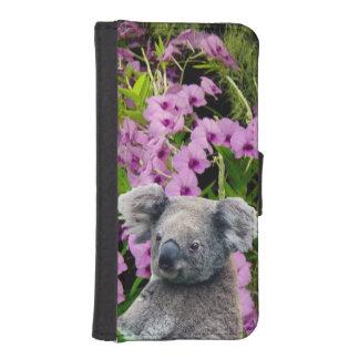 Caja de la cartera del iPhone 5/5s de la koala Billeteras Para Teléfono