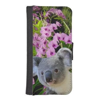 Caja de la cartera del iPhone 5/5s de la koala Funda Billetera Para Teléfono