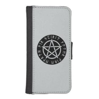 Caja de la cartera del iPhone 5/5S de Wiccan Billetera Para Teléfono
