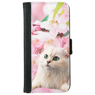 Caja de la cartera del iPhone 6/6s del gato Carcasa De iPhone 6