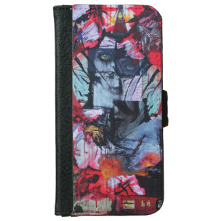 Caja de la cartera del iPhone 6 del arte de los