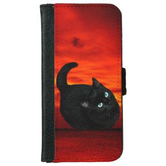 Caja de la cartera del iPhone 6 del gato Funda Cartera Para iPhone 6