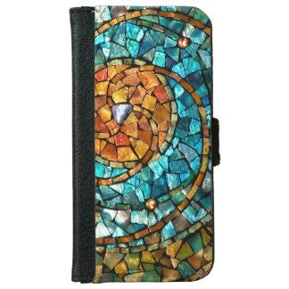 Caja de la cartera del iPhone 6 del mosaico del