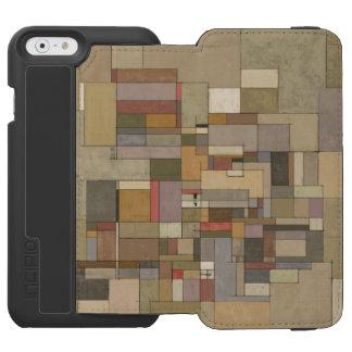 Caja de la cartera del iPhone del arte abstracto Funda Billetera Para iPhone 6 Watson