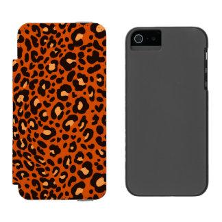 Caja de la cartera del leopardo para el iPhone 5 Funda Billetera Para iPhone 5 Watson