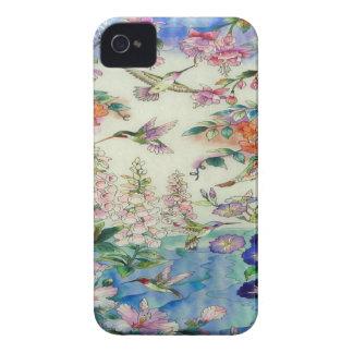 Caja de la casamata de Blackberry de los colibríes Case-Mate iPhone 4 Cárcasa