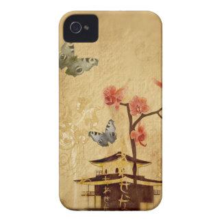 Caja de la casamata de Japón del vintage iPhone 4 Case-Mate Funda