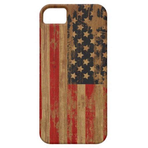 Caja de la casamata de la bandera americana iPhone 5 funda