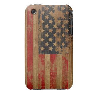 Caja de la casamata de la bandera americana Case-Mate iPhone 3 protectores