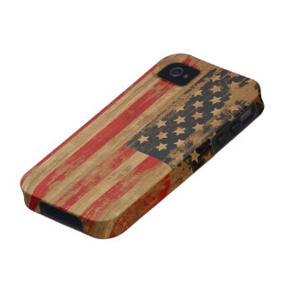 Caja de la casamata de la bandera americana Case-Mate iPhone 4 carcasas