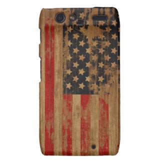 Caja de la casamata de la bandera americana droid RAZR carcasa